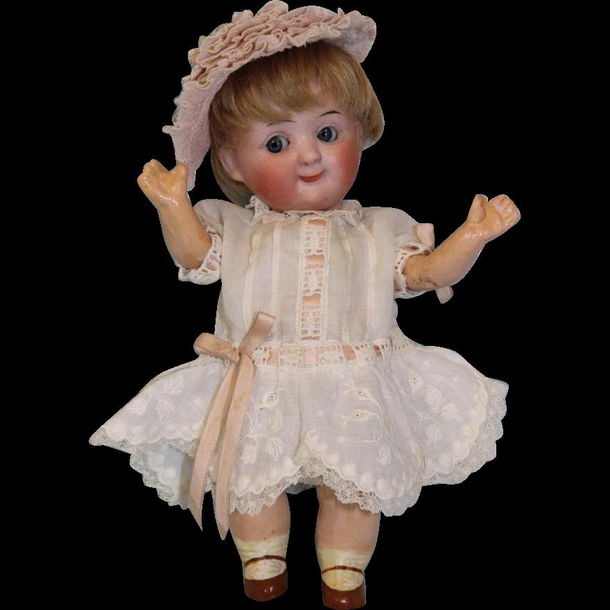 7 inch Antique Demalcol Googly German bisque dolll A Boo boo bargain