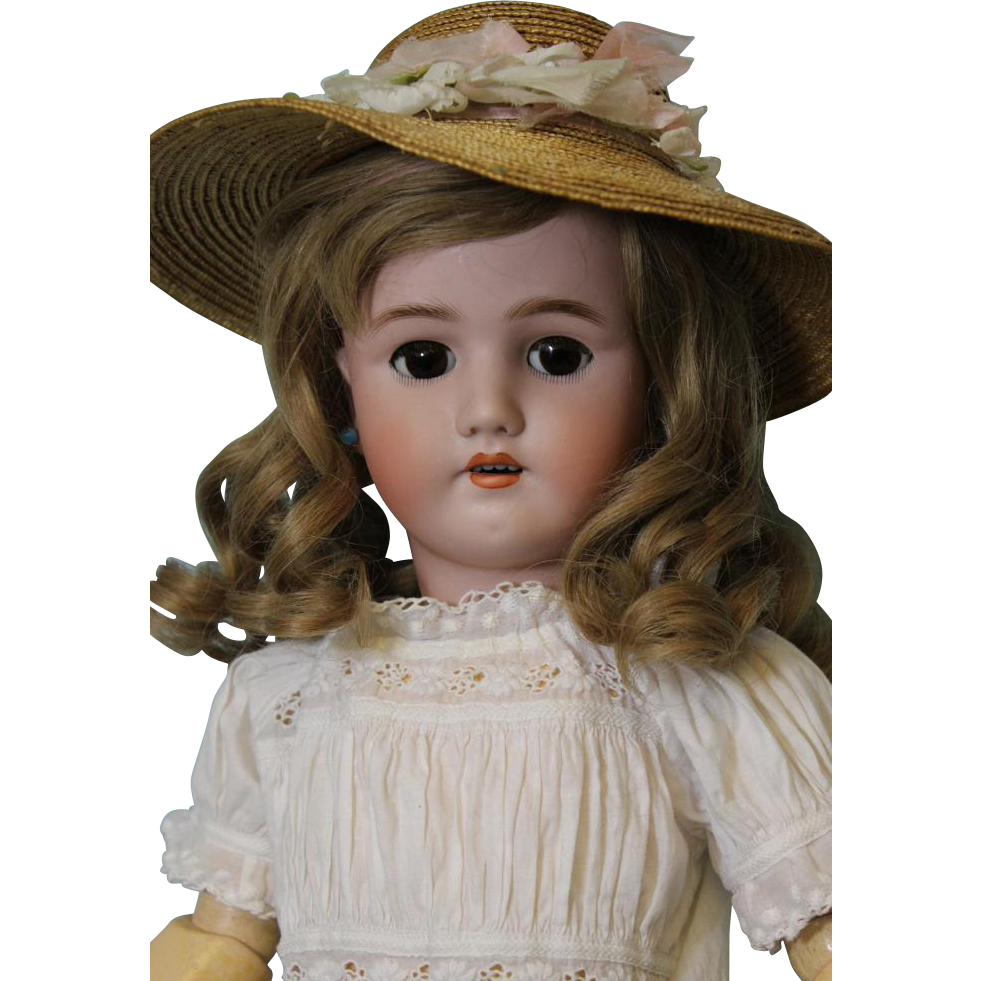 24 inch Heinrich Handwerck Pretty brown Sleep eyes Marked ball jointed body