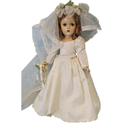 Early Composition 15 inch Madame Alexander Wendy Ann Bride Doll Original!