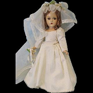 Early Composition 15 inch Madame Alexander Wendy Ann Bride Doll Original!