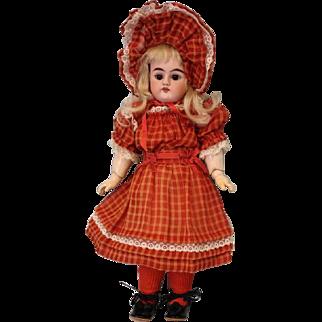 Antique 11 inch Heinrich Handwerck Doll Original BJ Body Great Dress & Bonnet!