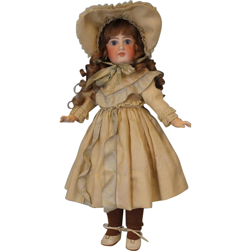 18 inch Closed Mouth Sonneberg 136 German Bisque Child Doll French Look