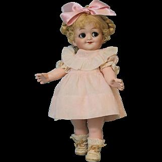 Antique 9.5 Inch Gebruder Heubach Googly Doll 10730 Sleep Eyes Size 0 c.1915