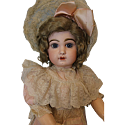 Antique 28 Inch Size 13 French Tete Jumeau Bebe Doll C/M Straight Wrists c.1890