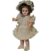 Antique 9 inch ED French Bisque Denamur Doll Size 1 Depose Paris French Jointed body