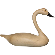 33 Inches Long 20 inch tall Swan Decoy from Crystal Island Gun Club Ca.1920