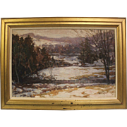 William Francis Taylor 1950 Oil Painting inner Canvas is 16 X 24 inch