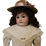 Antique 23 Inch Turned Head Kestner Alphabet Series Doll German Bisque Doll 1900