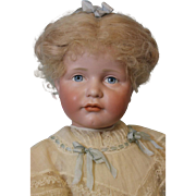 "Antique 23.5"" German Bisque Art Character Gretchen 114 by Kammer and Reinhardt"
