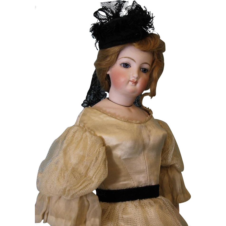17 inch French Statuette Poupee Doll Radiquet and Cordonnier Unique Body Dress