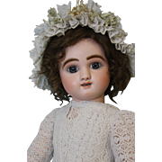 "23"" J Steiner Figure ""B"" Antique French Bisque Doll Paris c1885 Rare 2 RowsTeeth"