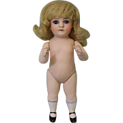 c.1920 Antique 5.5 Inch All Bisque Kestner German Doll with her original wig !