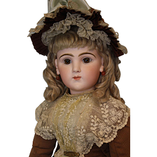 "26"" Rare French Bisque Character Doll 225 Emile Jumeau Art Character Series 1892"