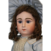 "Antique Rare 26"" French bisque Paris Bebe Doll by Danel et Cie, long-face Model"