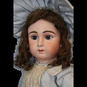 """Antique Rare 26"""" French bisque Paris Bebe Doll by Danel et Cie, long-face Model"""