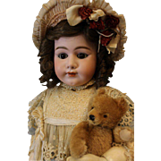 Antique 40 inch Heinrich Handwerk German Bisque doll Marked 79 Antique clothes