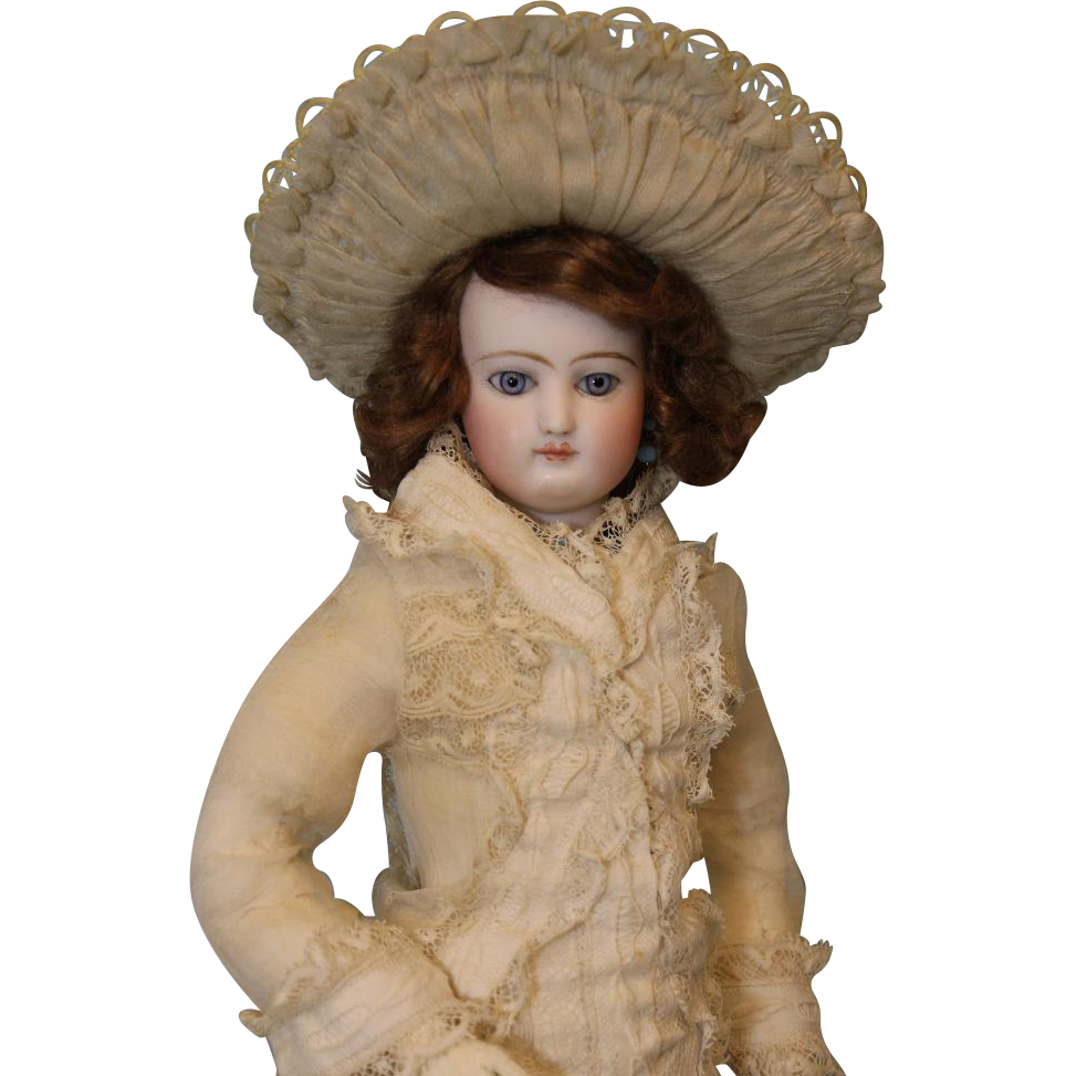 "Antique All Original 17"" Jumeau French Fashion Doll circa 1870"