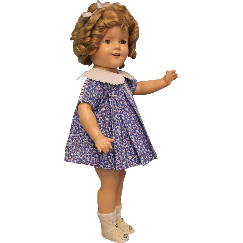"18"" Ideal Shirley Temple Doll From 1939 ""Susannah of the Mounties"" All Original"