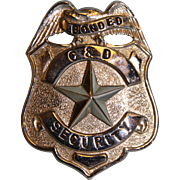 "Bonded C&D Security Badge 2-1/2"" X 2"""