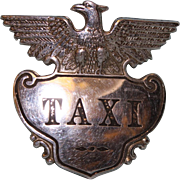 "Taxi Badge 2-3/4"" by 2-3/4"" with hat mount"