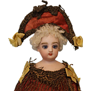 "Antique 13"" Francios Gaultier Musical Twirling FG Doll Marrotte Circa 1887-1900"
