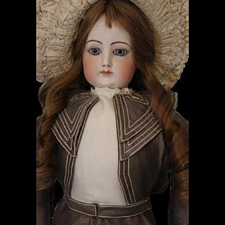 "Antique 26"" Francois Gaultier French Fashion doll Ca.1875 HH Wig Blue PW Eyes"