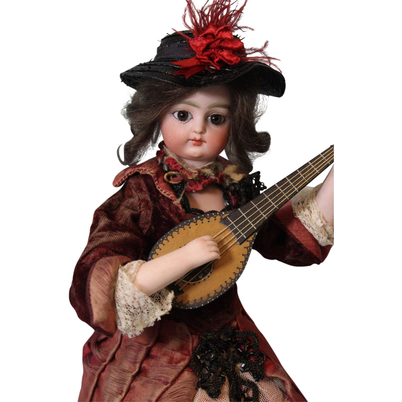 "12"" Atomaton Block Letter F 1 G Doll Works well is dressed Strumming a Mandolin"
