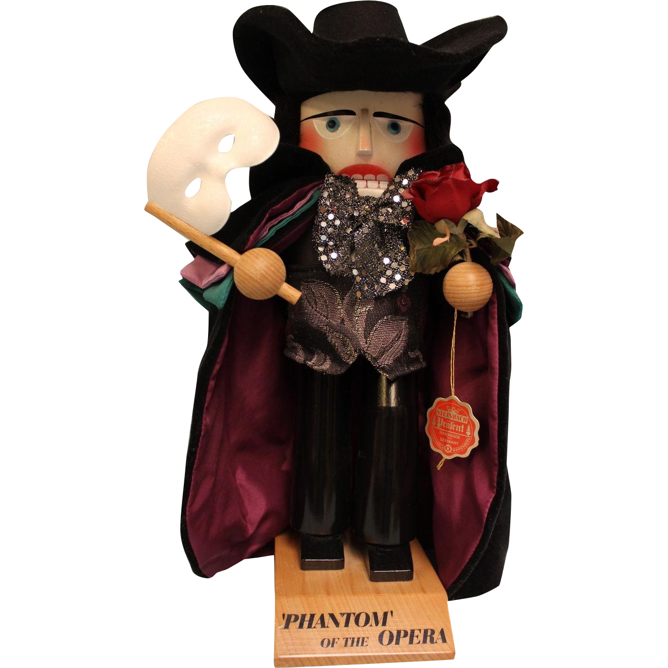 "16"" Steinbach Nutcracker #S902 Phantom of the opera"