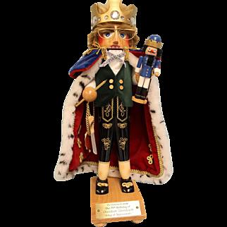 18-1/2 inch Steinbach Nutcracker #S100 75th Birthday Jubilee King