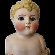 22inch Parian Glass eyed Doll Alt Beck & Gottschack Curls, black Headband c1890