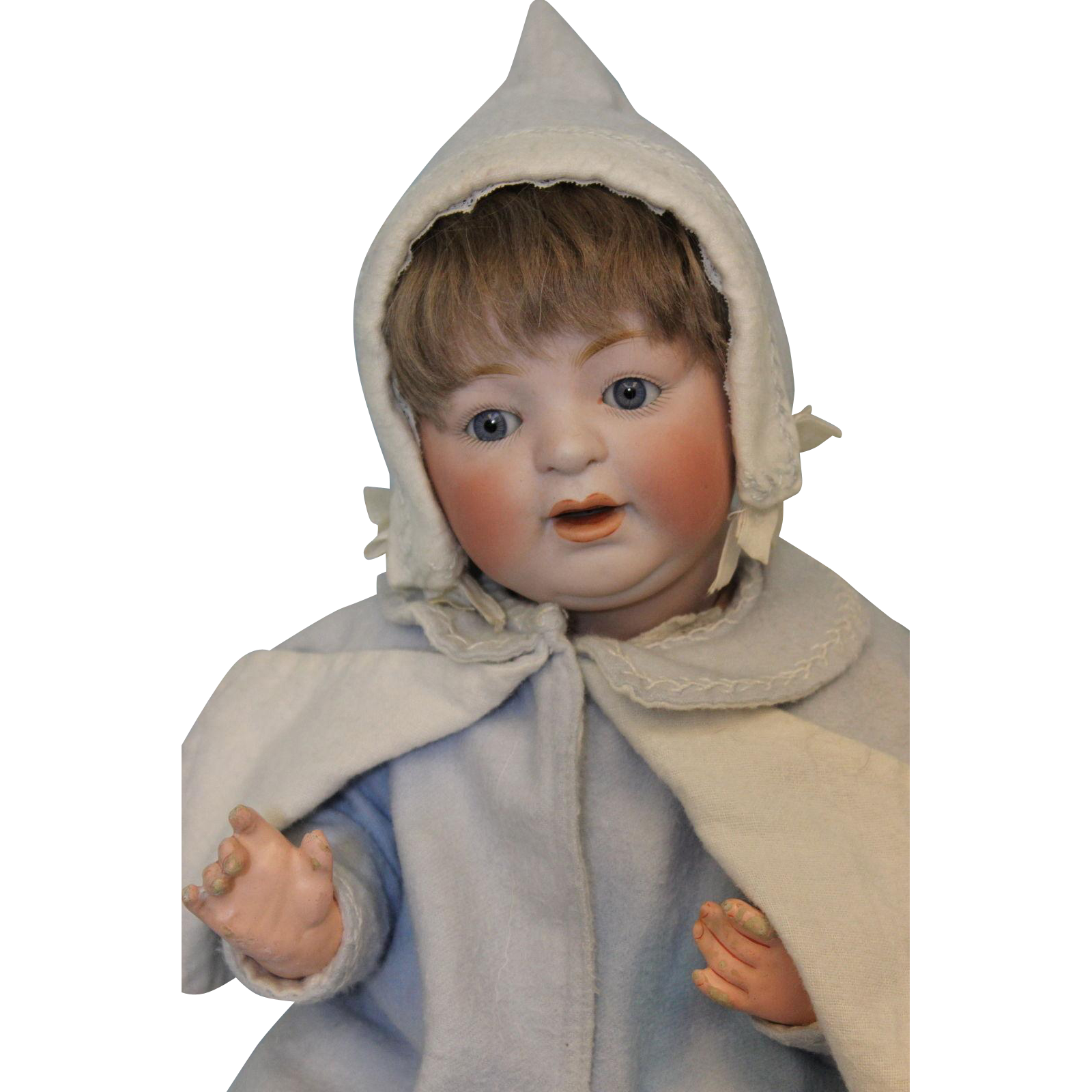 "16"" Antique Kestner #211 JDK c1910 Character ""Sammy"" Baby Doll c.1912"