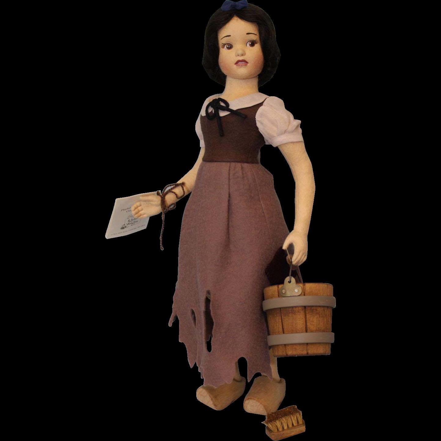 "16"" R. John Wright Walt Disney Snow White in Rags Doll Ltd Ed Box Tag 1000 c1989"