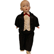Antique 11 Inch Whistling Jim by Gebruder Heubach in Vest and Tuxedo Works !!