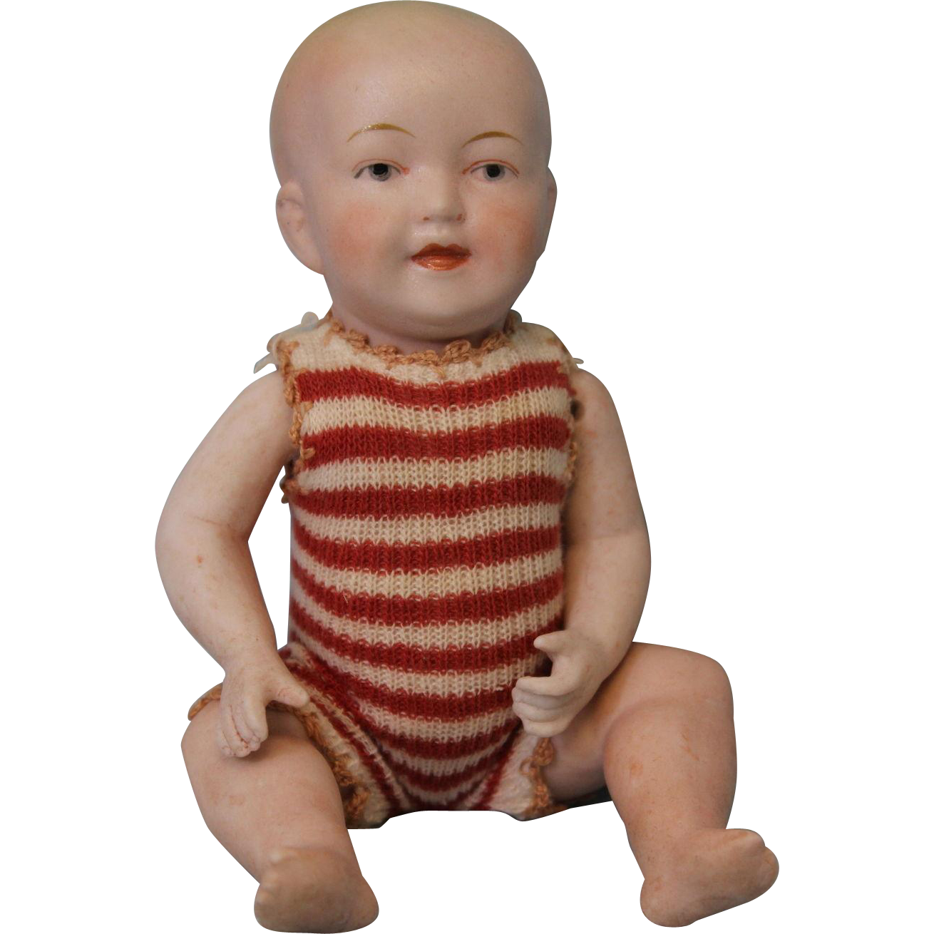 "Antique 6.5"" All Bisque German Baby Doll by Limbach Porzellanfabrik 8903 NICE!"