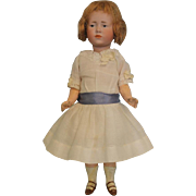 "Petite 9"" Antique K star R Marie 101 German Bisque Character Doll circa 1910"