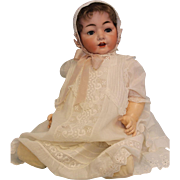 "Antique 25"" German Bisque Hertel Schwab Baby Doll 99/15 LARGE BABY!"