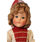 """Exquisite Vintage Composition Effanbee """"Anne Shirley"""" Original Majorette Outfit - Red Tag Sale Item"""