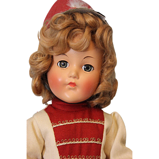 "Exquisite Vintage Composition Effanbee ""Anne Shirley"" Original Majorette Outfit"