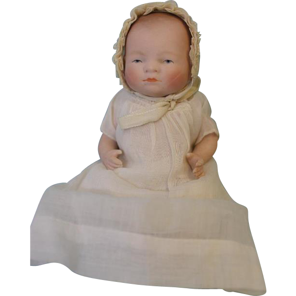 "6"" Antique All Bisque Bye-Lo Baby Doll Grace S. Putnam Germany c.1920's"