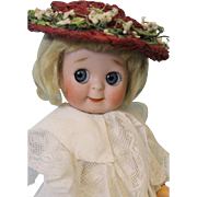 "Antique 11"" Googly JDK 221 German Bisque Doll by Kestner Too cute for words!"