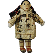 14.5 inch Siberian Eskimo Doll in Fancy Parka by Josephine Ungott Artist Doll