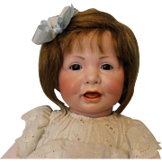 Antique 20 inch K*R 116 Simon and Halbig Toddler Doll with a Wig German Bisque 1911
