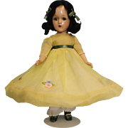 14 Inch 1941 Madame Alexander Composition Scarlett O'Hara is stunning in Yellow