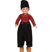 19 inch Antique Armand Marseille 390 Dutch Boy Doll All Orig costume Made in Germany