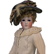 16 inch Antique French Fashion Doll by Eugene Barrois c.1870s Chantilly Face Dressed