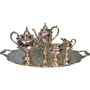 Antique Birks Sterling Silver Tea/Coffee Service Brite Cut Engraving 60.8 OZT