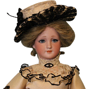 RARE Antique 14 inch 1468 Simon & Halbig German Lady doll correct Body Dressed!