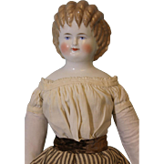 Antique 23 inch Blond Curly Top China head doll, Ex. Cond. By Alt Beck & Gottschalck