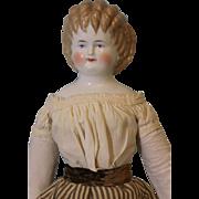 Antique 23 inch Blond Curly Top China head doll, Ex. Cond. By Alt Beck & Gottschalck