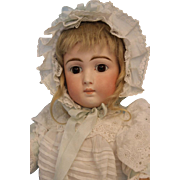 20 inch Antique German Bisque 137 Belton Doll with Long Face c1890 Closed Mouth
